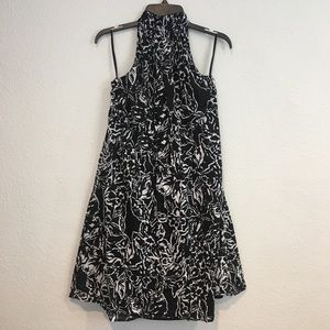 The Limited Black and White Halter Dress Size 12